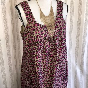 MK Size 10 💯 silk animal print dress